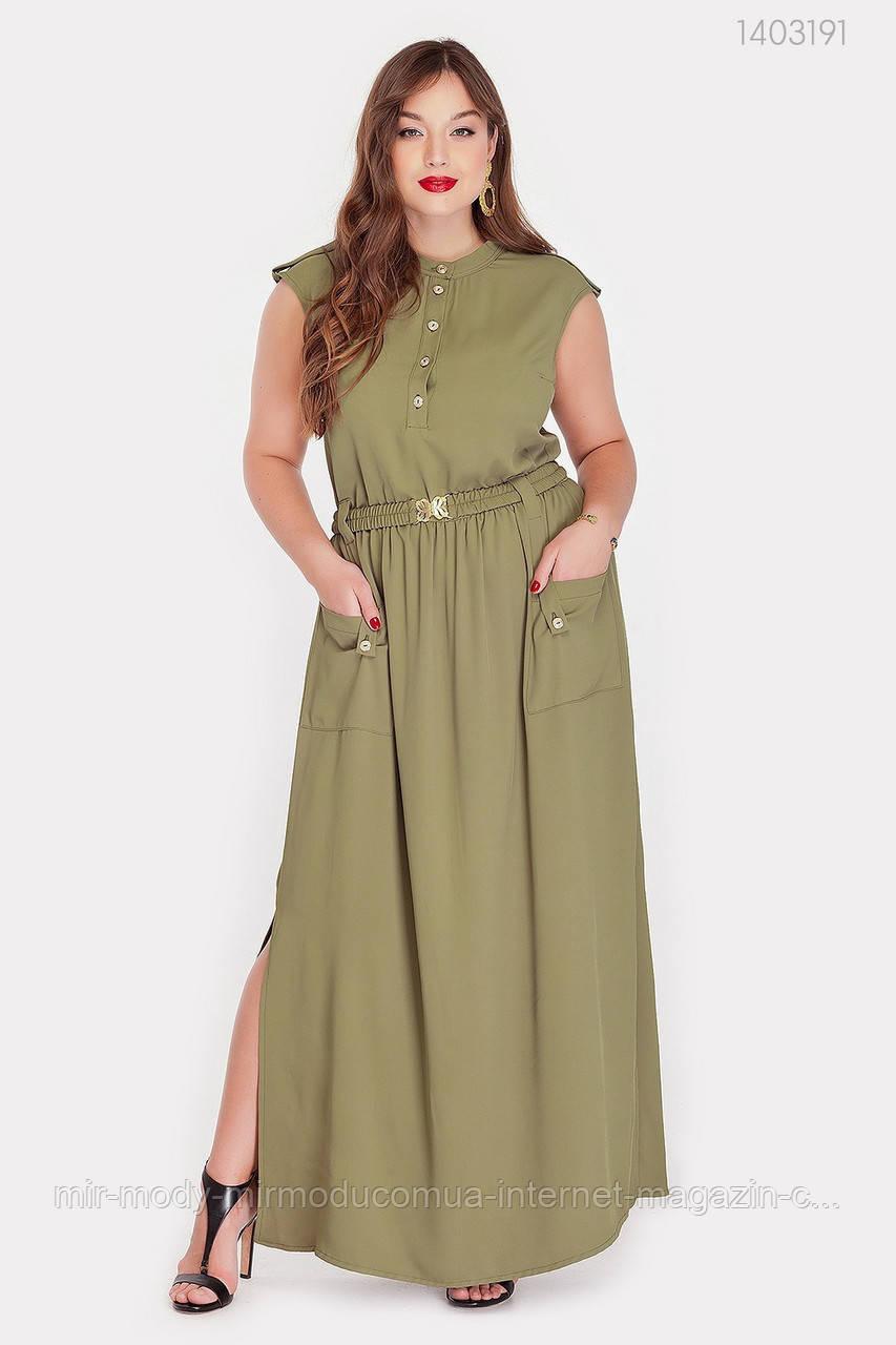 Платье Монпелье (хаки) (2 цвета) с 50 по 52 размер  (рин)