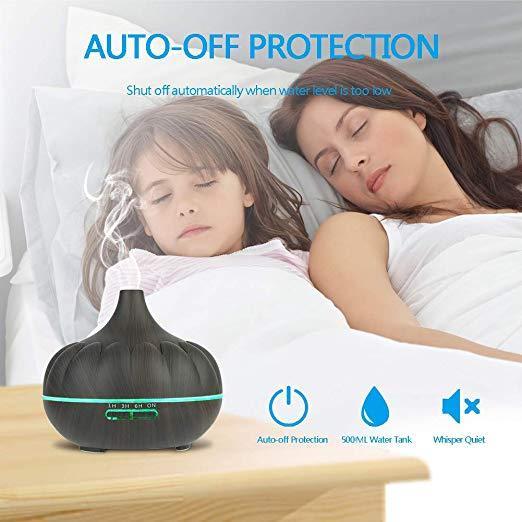 Увлажнитель воздуха аромалампа с подсветкой и таймером