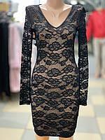 KikiRiki. Гіпюрове чорне вечірнє плаття з довгим рукавом.Оригінал.Туреччина.