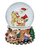 Музыкальный снежный шар We Wish You a Merry Christmas Melinera