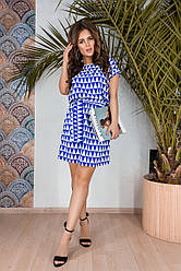 Платье  принт в расцветках  05478