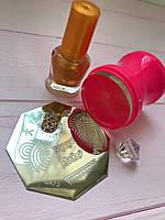 Наборстемпинга для ногтей +Пластина + Краска для стемпинга