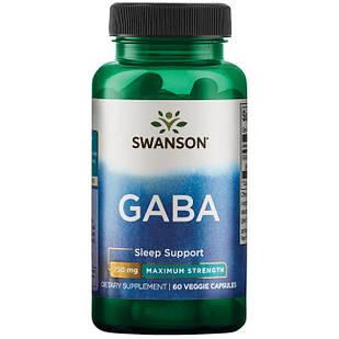 GABA Гамма-аминомасляная к-та  750 mg 60 капс США