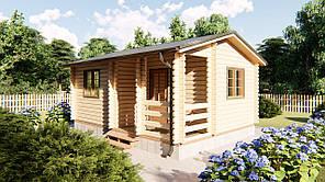 Домик деревянный садовый из профилированного бруса 6х4,5 м. Кредитование строительства деревянных домов