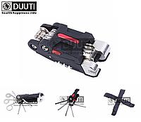 Велосипедный мультитул / набор инструментов 14-в-1 «DUUTI» TL-116 из двух частей + выжимка цепи