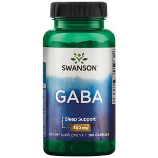 GABA Гамма-аминомасляная к-та  500 mg 100 капс США