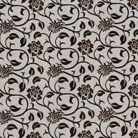 Мебельная ткань рогожка с флоком Бутон бежевый