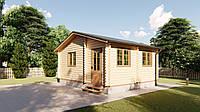 Дом деревянный дачный из профилированного бруса 6х5 м