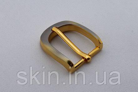 Пряжка ременная, ширина - 20 мм, цвет - тертое золото, артикул СК 5300, фото 2