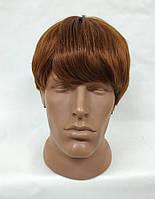 Парик короткий мужской светло-коричневый модель М06 искусственные термостойкие волосы