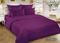 Постельное белье ТЕТ Страйп сатин фиолетовое (евро)