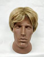 Парик короткий мужской блонд модель М06 искусственные термостойкие волосы