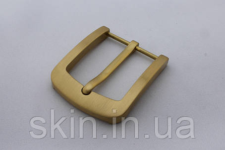 Латунная ременная пряжка с плоским язычком, ширина 40 мм, артикул СК 5319, фото 2