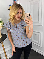 Блуза принт в расцветках  905001Б, фото 2