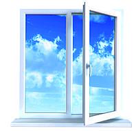 Окно металлопласт станд Koning-5k (1,3*1,4) 1-кам стеклопакет, фурнитура Vorne