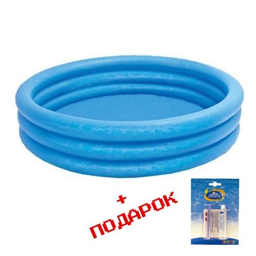 Надувной детский бассейн Intex 114*25 см синий
