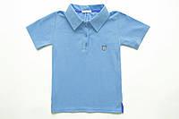 Футболка-поло голубая р.116 детская для мальчика SmileTme Polo