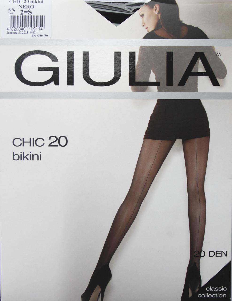Колготки GIULIA ( Джулия ) CHIC 20 bikini черные (от 3 шт)