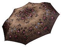 Женский зонт Airton Цветы на коричневом ( автомат ) арт. 3635-3, фото 1