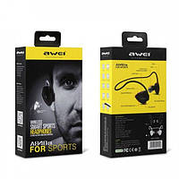 Наушники гарнитура вакуумные Bluetooth Awei A840 sport черный