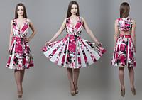 4cec71aeaea Женское оригинальное платье из хлопка розовое