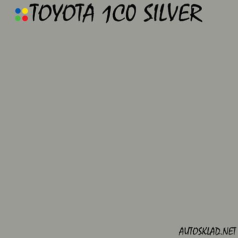 Авто краска (автоэмаль) металлик Mobihel (Мобихел) Toyota Silver 1CO 1л, фото 2