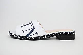 Шльопанці білі (репліка VALENTINO) Evromoda 1079, фото 2