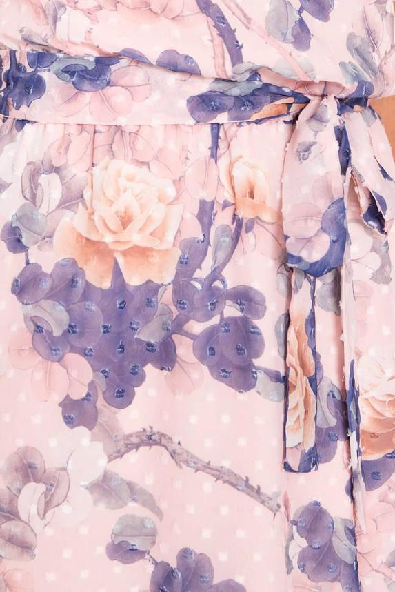 Летнее шифоновое платье с цветочным принтом, фото 2