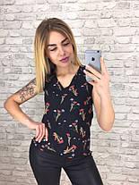 Блуза  принт в расцветках  901033, фото 3