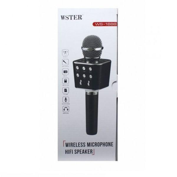 Безпровідний мікрофон караоке Wster WS-1688 Black