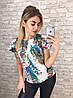 Блуза   принт в расцветках  905002, фото 3