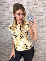 Блуза   принт в расцветках  905002, фото 2