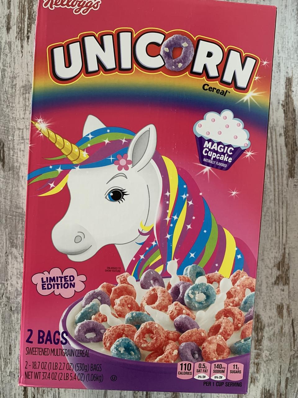 Сухой завтрак Kellogg's Единорог цветные хрустящие колечка двойная упаковка