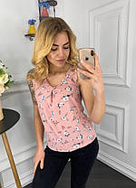 Лёгкая блуза в расцветках   901034, фото 2