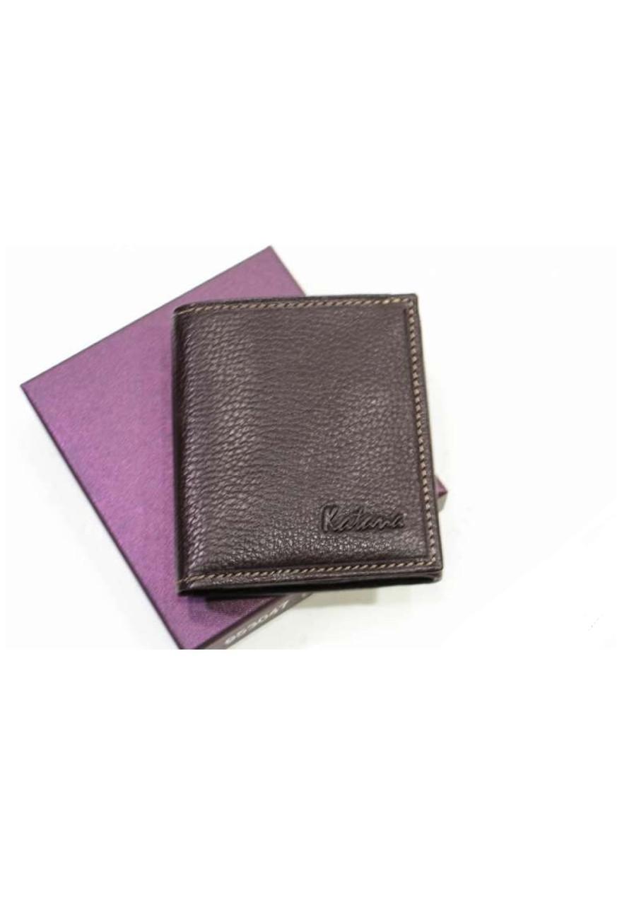 Невеликий шкіряний гаманець з натуральної шкіри Katana