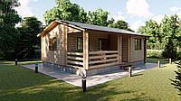 Дом деревянный сборный из профилированного бруса 6х8 м