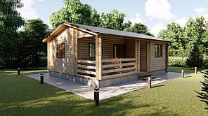 Дом деревянный сборный из профилированного бруса 6х8 м. Кредитование строительства деревянных домов