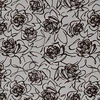 Мебельная ткань рогожка с флоком Роза бежевая, фото 1