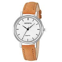Женские часы Geneva с белым циферблатом и черными метками | 88565