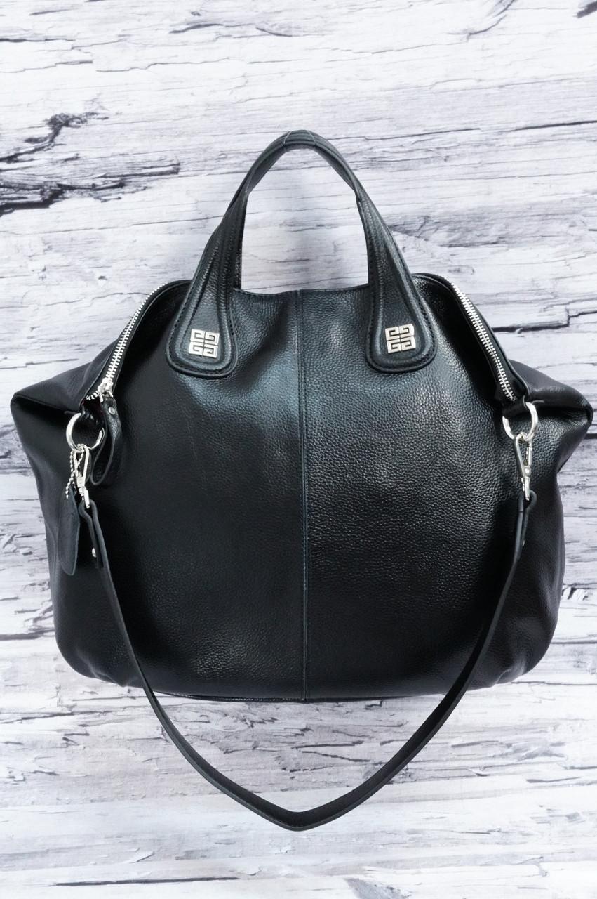 14061bd19125 Большая женская сумка из матовой кожи 0868 black. Реплика: продажа ...