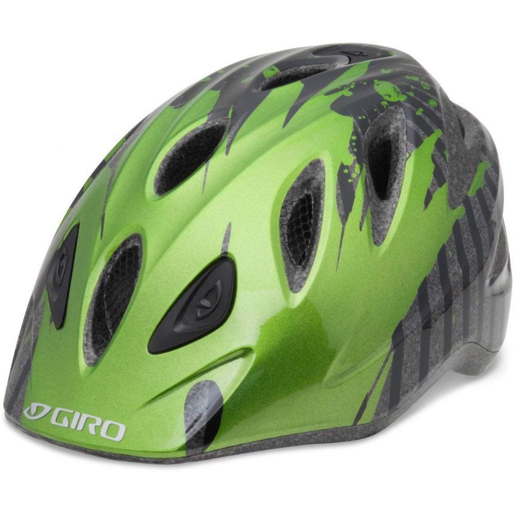 Велошлем детский Giro Rascal зеленый Flames, M/L (50-54) (GT)