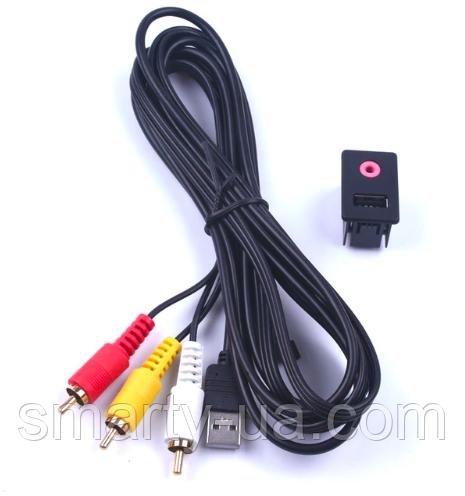 Aux кабель Toyota 3.5 мм 3 RCA автомобилей AUX USB Мужской  Volkswagen