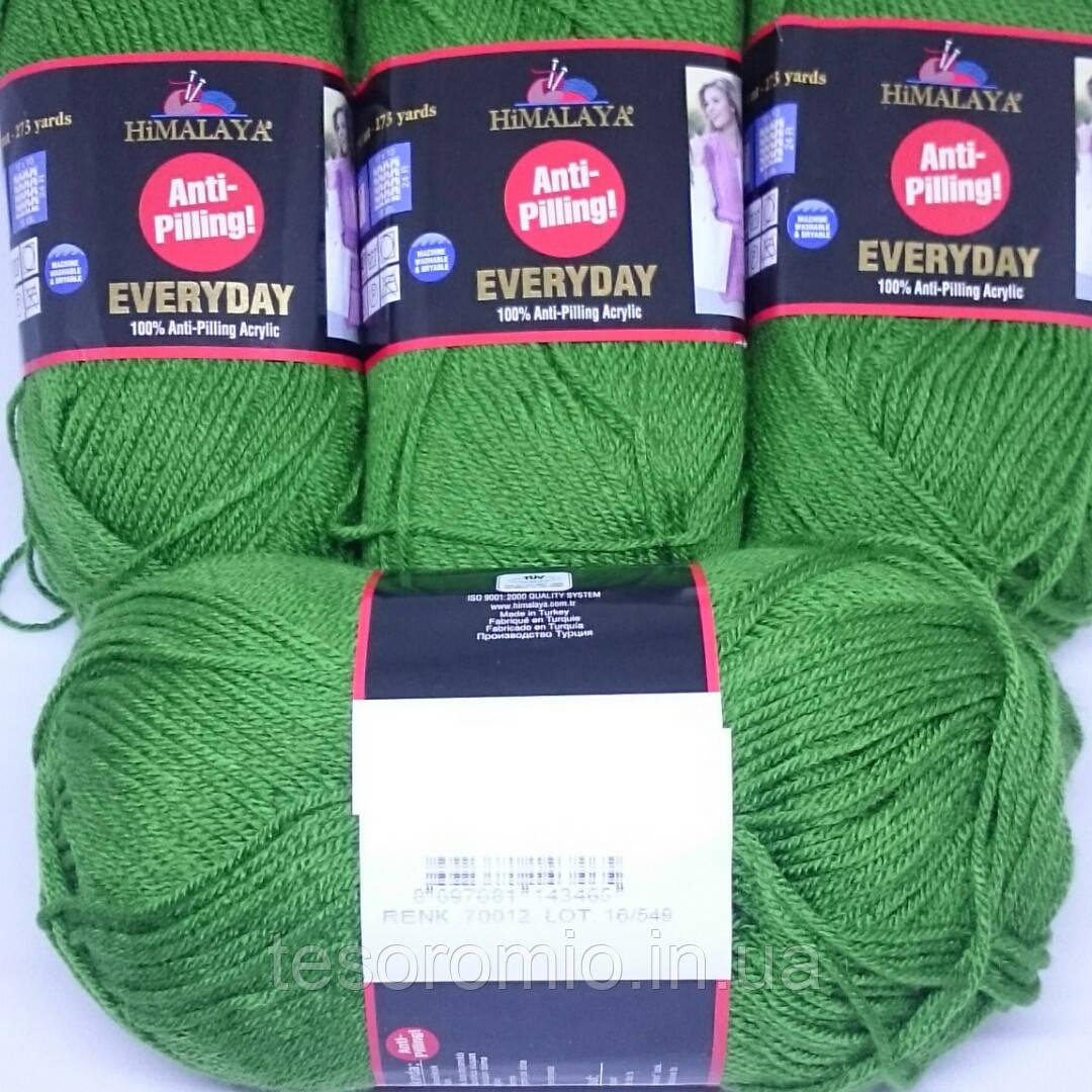 Пряжа HiMALAYA EVERYDAY Antipilling. Цвет зеленый.