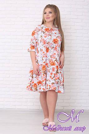 Легкое летнее платье большого размера (р. 42-90) арт. Амалия, фото 2
