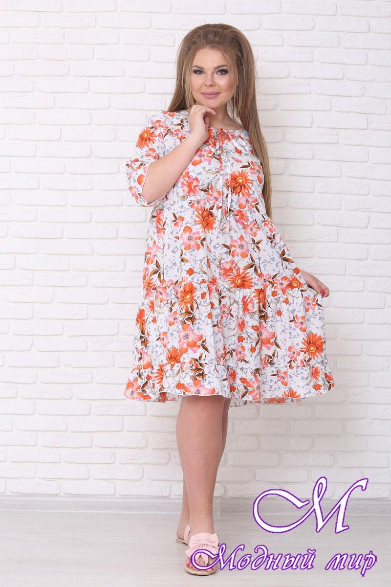 Легкое летнее платье большого размера (р. 42-90) арт. Амалия
