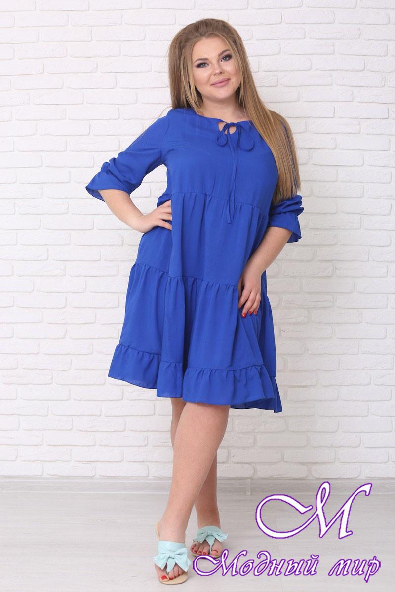 Свободное летнее платье большого размера (р. 42-90) арт. Амалия