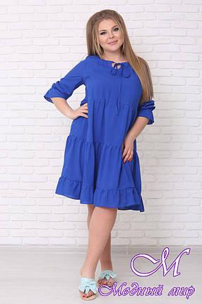 Свободное летнее платье большого размера (р. 42-90) арт. Амалия, фото 2