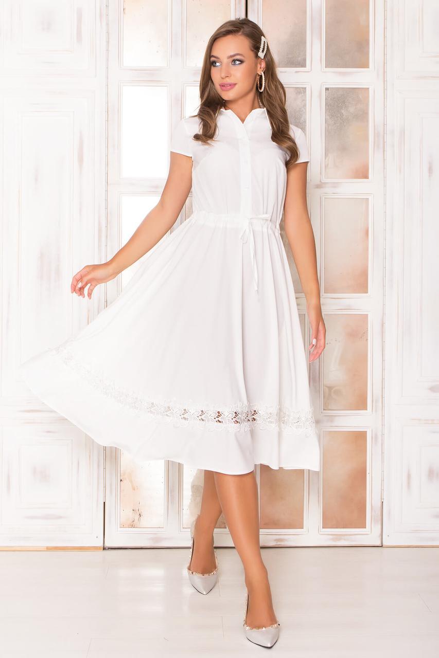 e986a32bf51f004 Белое летнее платье миди, цена 590 грн., купить в Киеве — Prom.ua ...