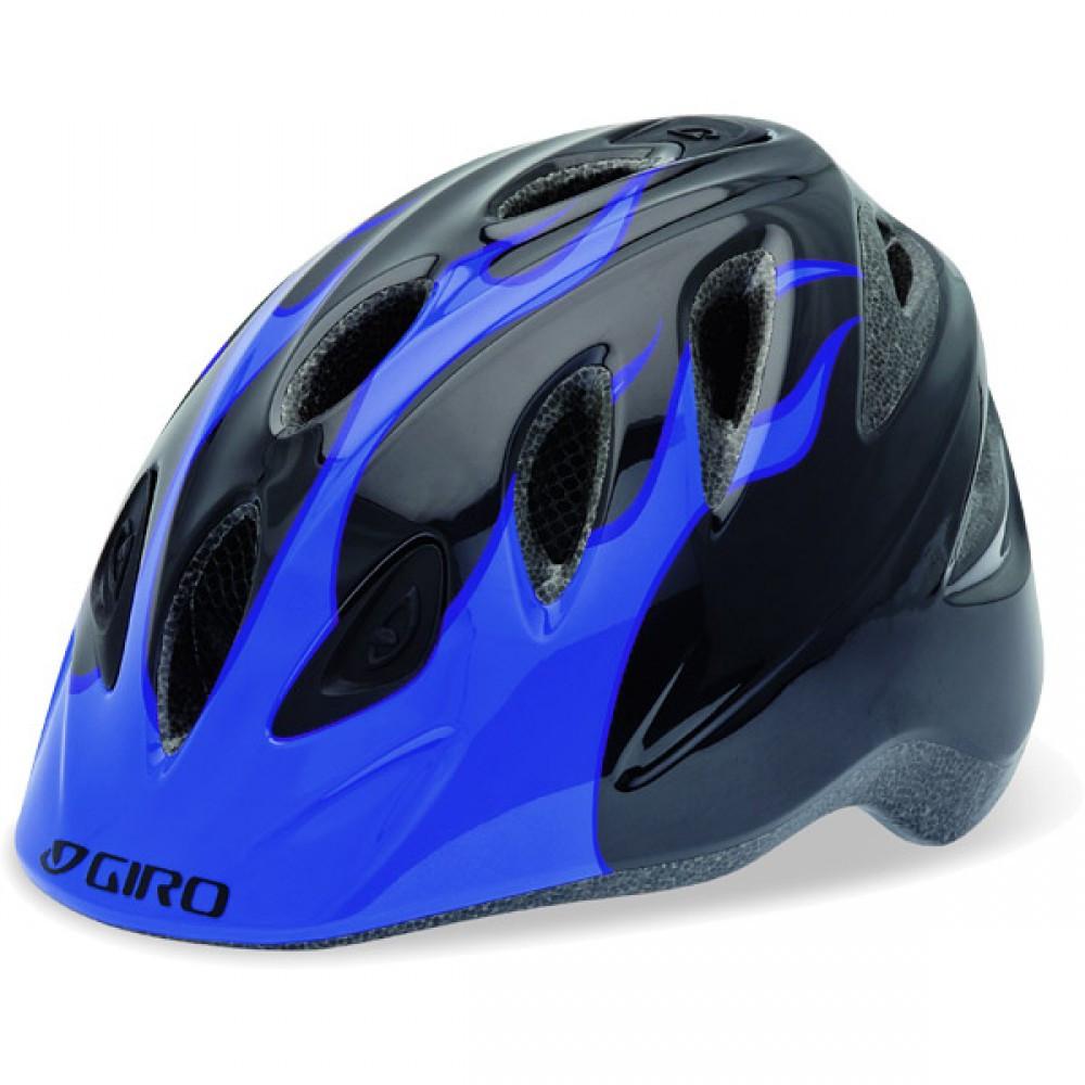 Велошлем детский Giro Rascal матовый синий Flames, M/L (50-54) (GT)