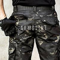 """Карго шорты с ремнём """"LEGION"""" Black Multicam, фото 2"""